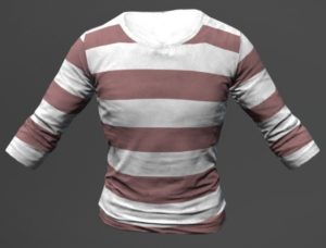 Das gestreifte Shirt, der moderne Zonk
